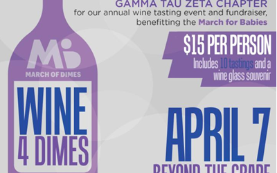 "Beyond the Grape is Hosting the Annual ""Wine for Dimes"" Fundraiser"