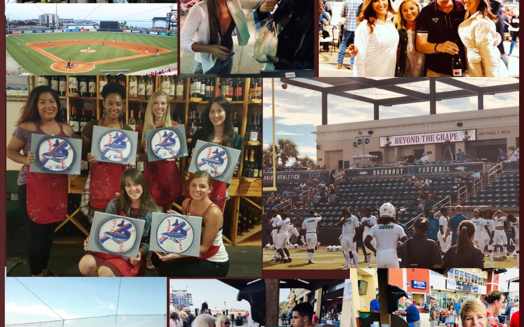 Beyond the Grape in Pensacola at the UWF Argonauts games and the Pensacola Blue Wahoos Games