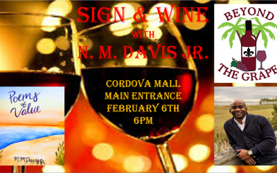 Sign & Wine Book Signing Feb 6 at 6pm!