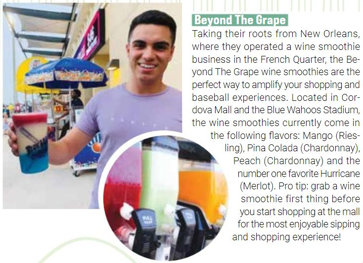 Beyond the Grape in Pensacola Featured in Downtown Crowd Magazine